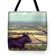 Daisy Enjoys The View From Truleigh Hill Tote Bag