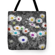 Daisy Rainbow Tote Bag