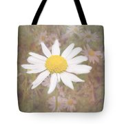 Daisy Textured Tote Bag