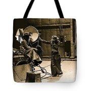 Dakota Homage #1 1945 Cowboy Extras Sound Stage Old Tucson Arizona Tote Bag