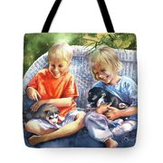 Dakotas Puppies Tote Bag