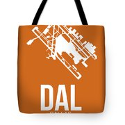 Dal Dallas Airport Poster 2 Tote Bag by Naxart Studio