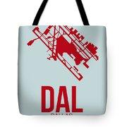 Dal Dallas Airport Poster 3 Tote Bag