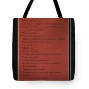 Dalai Lama A To Zen Of Life On Red Square Typography Tote Bag