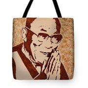 Dalai Lama Original Coffee Painting Tote Bag