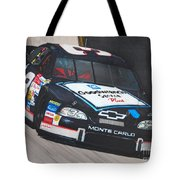 Dale Earnhardt At Bristol Tote Bag