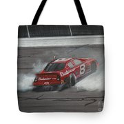 Dale Earnhardt Junior Victory Burnout Tote Bag
