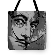 Dali In B W Tote Bag