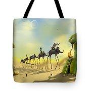 Dali On The Move  Tote Bag