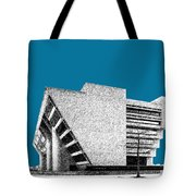 Dallas Skyline City Hall - Steel Tote Bag