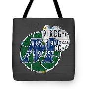 Dallas Mavericks Basketball Team Retro Logo Vintage Recycled Texas License Plate Art Tote Bag