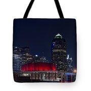Dallas Skyline Arts District At Night Tote Bag