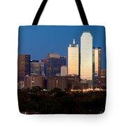 Dallas Skyline Sunset Tote Bag