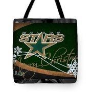 Dallas Stars Christmas Tote Bag
