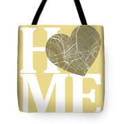 Dallas Street Map Home Heart - Dallas Texas Road Map In A Heart Tote Bag