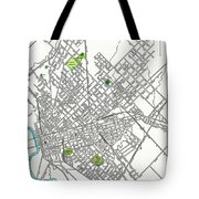 Dallas Texas Hand Drawn Map  1893 Tote Bag