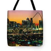 Dallas Texas Skyline In A High Heel Pump Tote Bag
