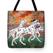 Dalmatians Three Tote Bag