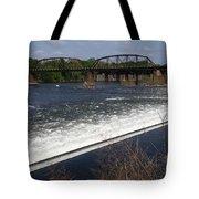 Dam And Rail Runs Tote Bag