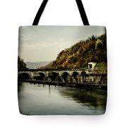 Dam On Adda River Tote Bag