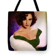 Dame Elizabeth Rosemond 'liz' Taylor - Featured In 'comfortable Art' Group Tote Bag
