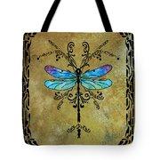 Damselfly Nouveau Tote Bag by Jenny Armitage