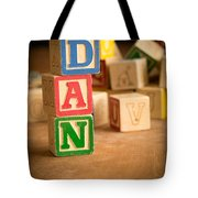 Dan - Alphabet Blocks Tote Bag