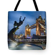 Dance At The Tower Tote Bag