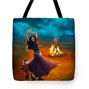 Dance Dervish Fox Tote Bag