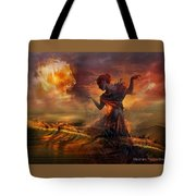 Dance In The Fire Tote Bag
