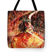 Dance Of Colors Tote Bag