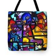 Dance Of The Gauge Bosons In Vacuum Tote Bag