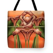 Dance Of The Orange Calla Lilies II Tote Bag