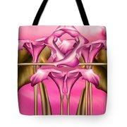 Dance Of The Pink Calla Lilies IIi Tote Bag