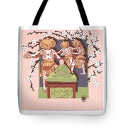 Dance Of The Skeleton Lords Tote Bag