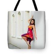 Dance On The Wall Tote Bag