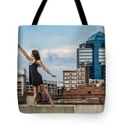 Dance The Durham Skyline Tote Bag by Jh Photos