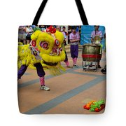 Dance Troupe Performs Chinese Lion Dance Singapore Tote Bag