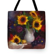 Dance With Me - Sunflower Still Life Tote Bag by Talya Johnson