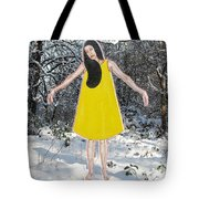Dancer In The Snow Tote Bag