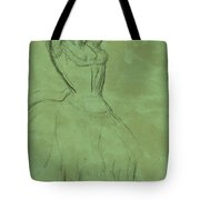 Dancer With Raised Arms Tote Bag by Edgar Degas