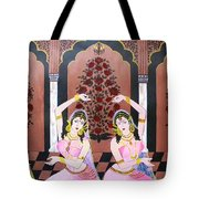 Dancers In Mughal Court Tote Bag