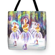 Dancers In The Forest II Tote Bag
