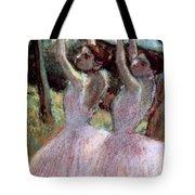 Dancers In Violet Dresses Tote Bag