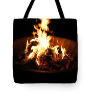 Dancing Amber Fire In Pit Tote Bag