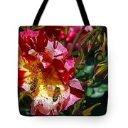 Dancing Bees And Wild Roses Tote Bag
