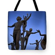 Dancing Figures Tote Bag by Brian Jannsen