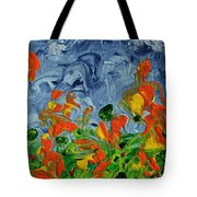 Dancing Flowers Tote Bag