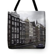 Dancing Houses Damrak Canal Amsterdam Tote Bag