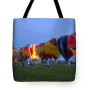 Dancing In The Moonlight Hot Air Balloons Tote Bag